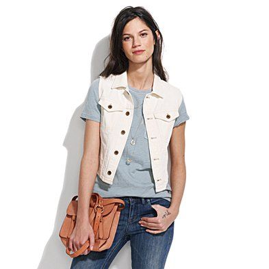 Longroad Denim Vest in Sawduster Wash  Think this is perfect for over a summer dress!!