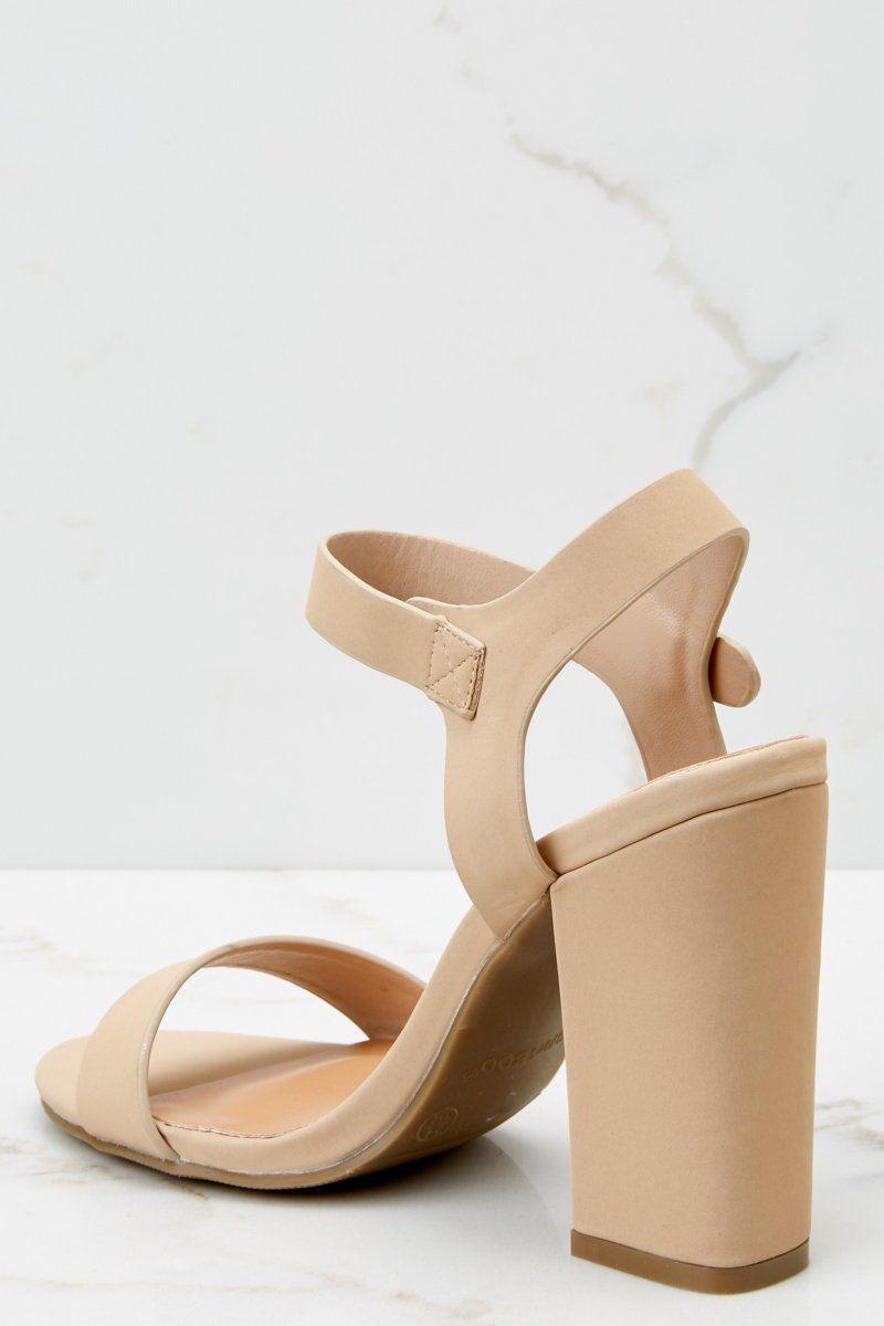 ead7b74121cc Chic Nude Heels - Trendy Heels - Heels -  32.00 – Red Dress Boutique   AnklestrapsHeels