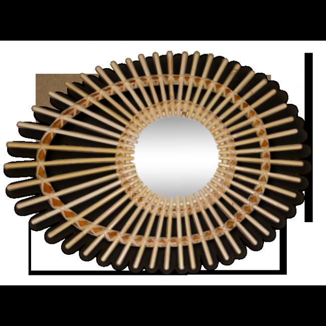 Miroir Soleil En Rotin 45 X 65 Cm Vendu Par Troc En Stock Antibes 6 Alpes Maritimes Hauteur 65 Largeur Miroir Soleil En Rotin Miroir Soleil Miroir