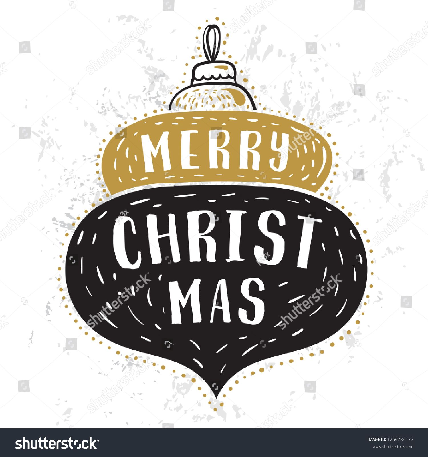 Merry Christmas. Typography. Vector logo, text design