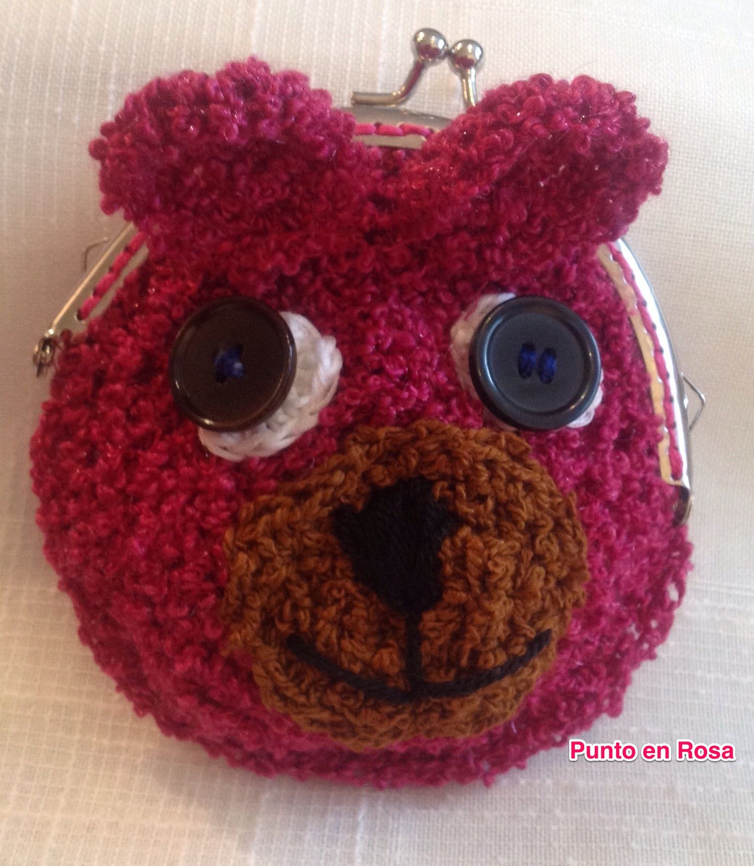 #Monedero #ganchillo . #Crochet #purse coin . porte-monnaie . #Oso #osito #bear
