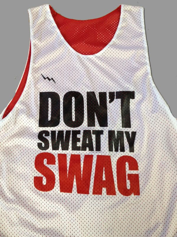 e5ac760a39f Dont sweat my swag custom lacrosse pinnies from Lightning Wear Apparel.  Made to order in Maryland USA by lacrosse players.