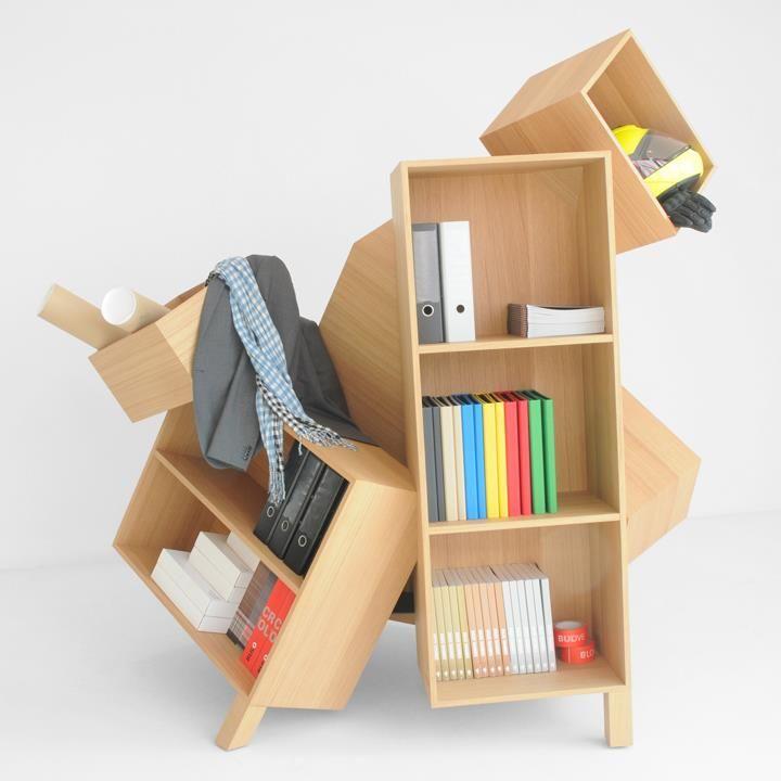 Overdose Collection by Bulo | Design Bram Bo  Acho que essa estante no meu quarto ficaria cheia de bolsas!!! Adoro!