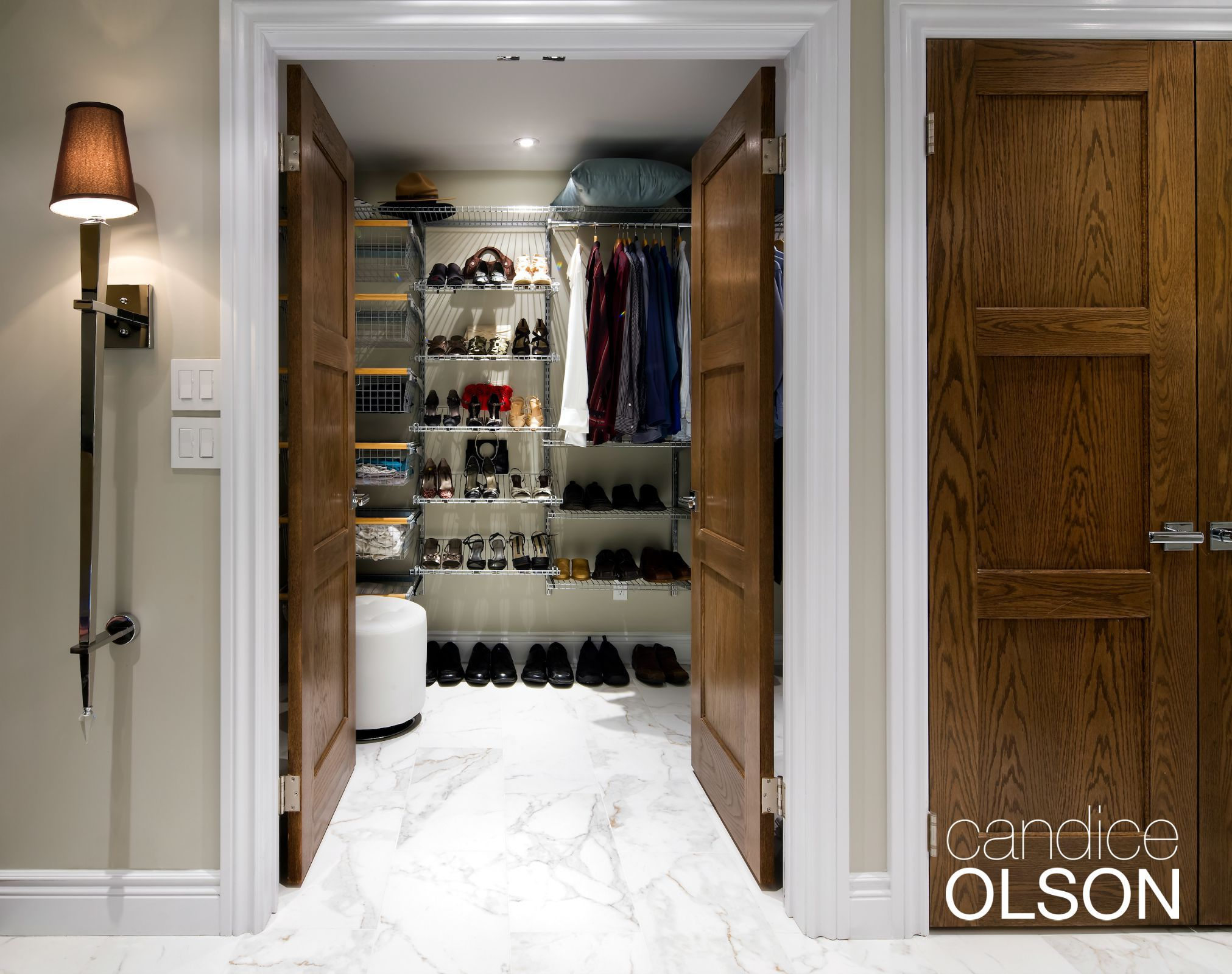 Another important consideration in bedrooms (and not just in kid's rooms) are nightlights so you can safely find yourself to the loo and back. Don't forget closet lighting that helps prevent low-lighting-level fashion crimes!