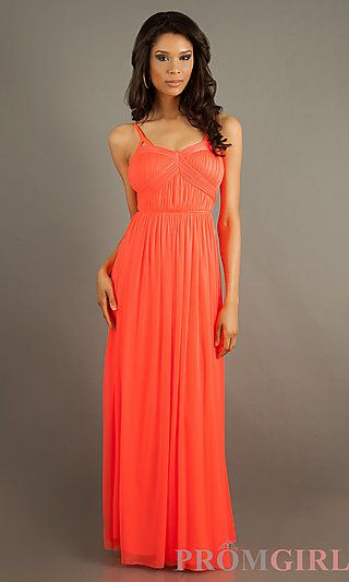 Flowing Floor Length Sleeveless Dress by Jessica Simpson at PromGirl ...