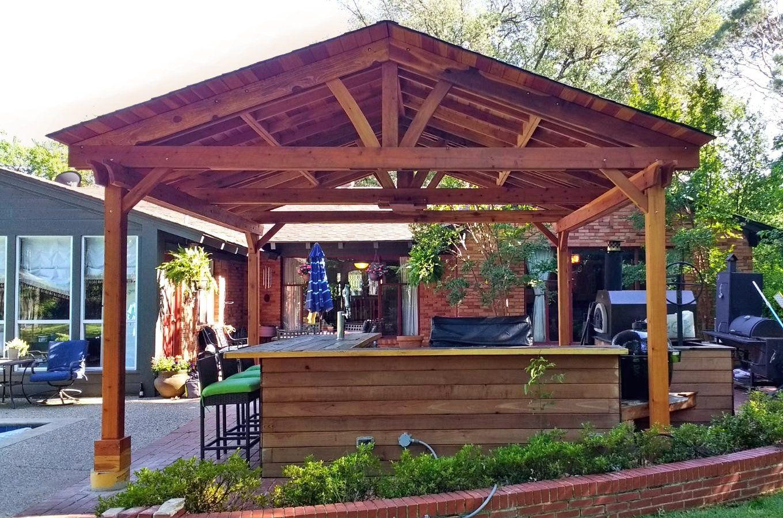 Outdoor Kitchen Pavilion Redwood Pavilion Kit For Kitchens With Images Backyard Design Outdoor Kitchen Del Norte