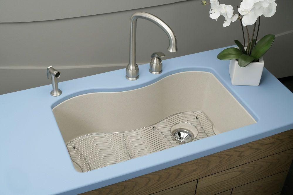 "Elkay ELGUS3322R 33"" 'E-Granite' Single Bowl Undermount Kitchen Sink - Harmony Collection"