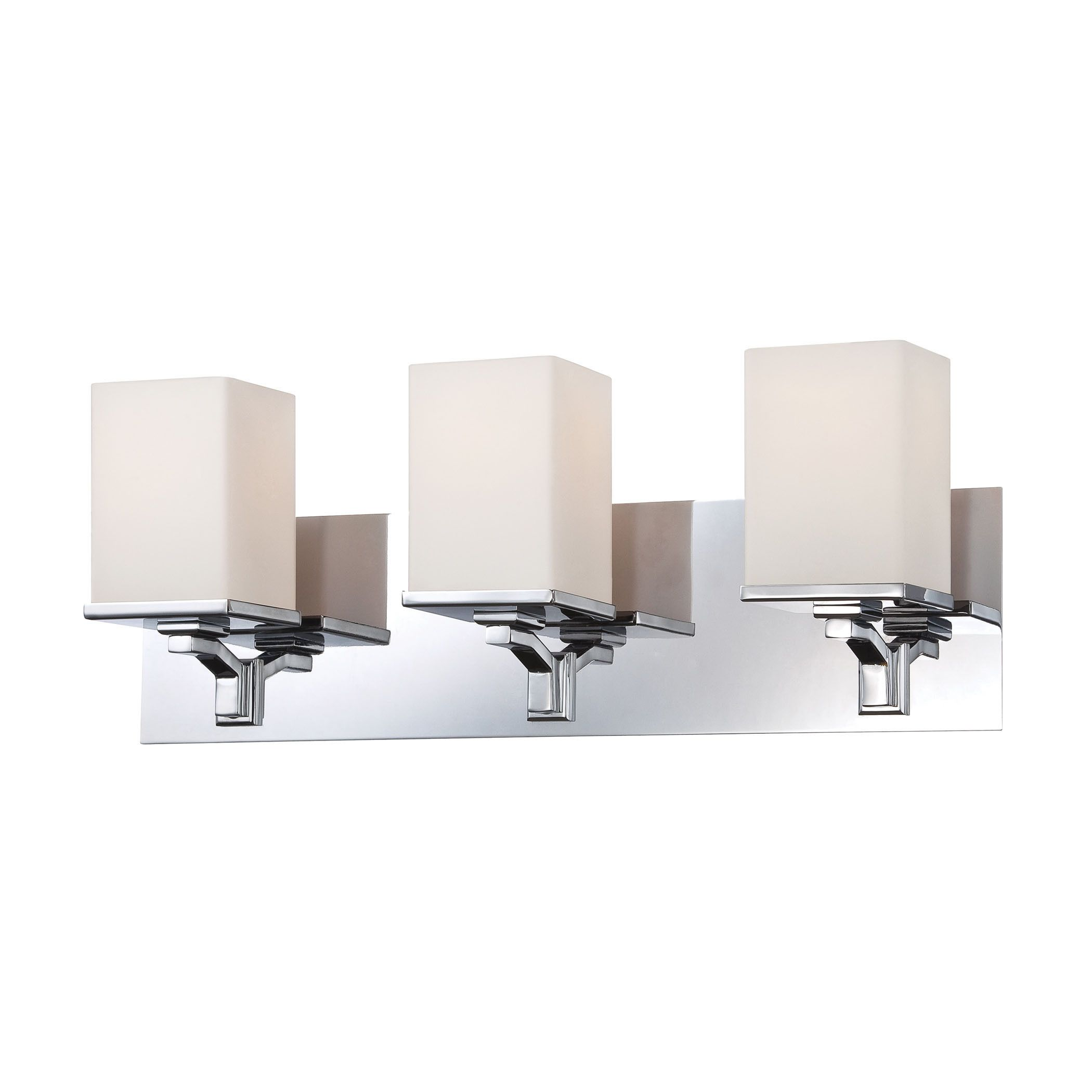 Alico Ramp 3-light Vanity with Chrome and White Opal Glass (White Opal)