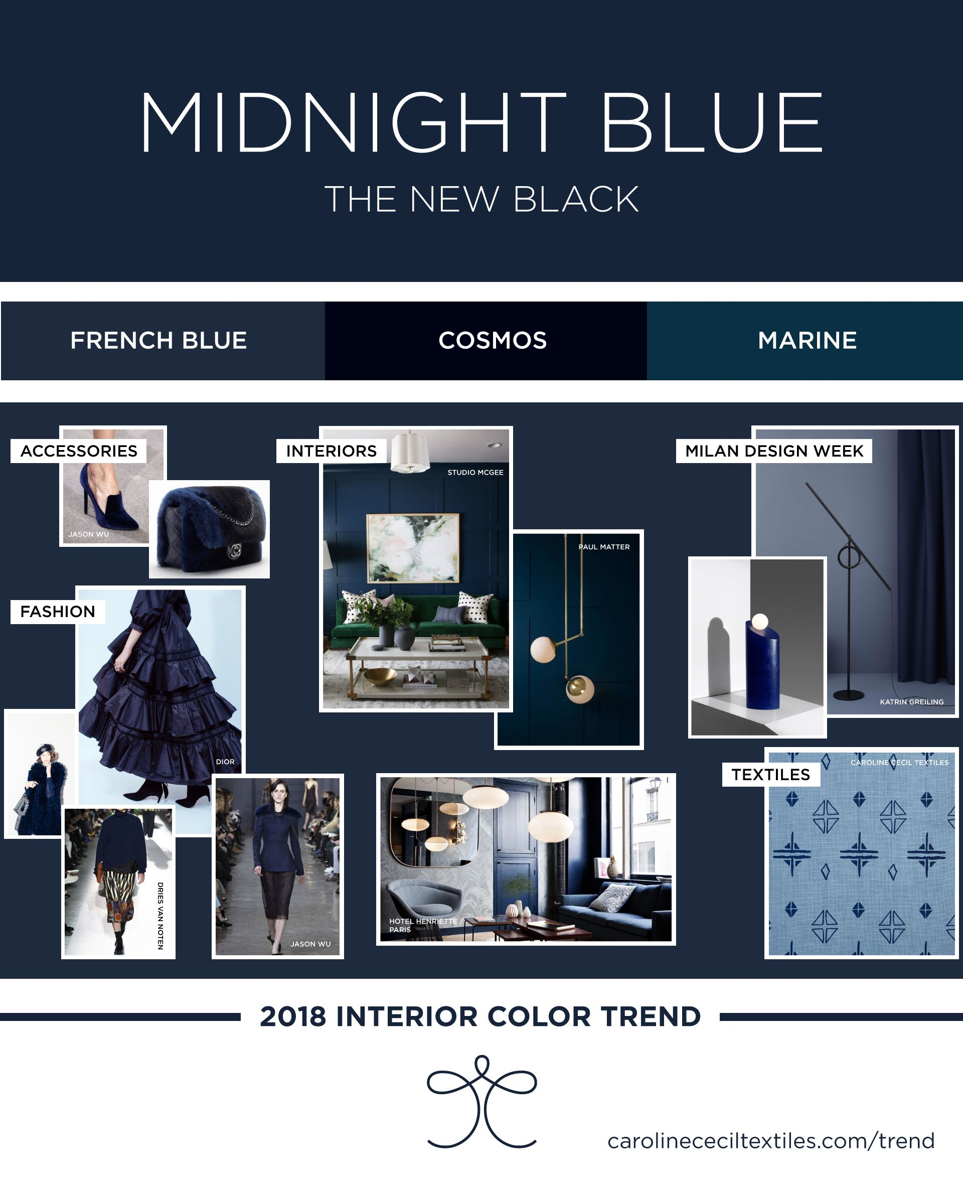 Interior color trends 2018 | indigo blue | midnight blue | navy ...