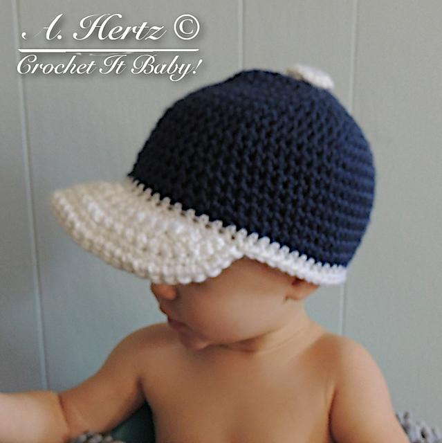 Crochet Baseball Cap Pattern By Crochet It Baby Crochet Baby Boy Crochet For Boys Crochet Baseball Hat