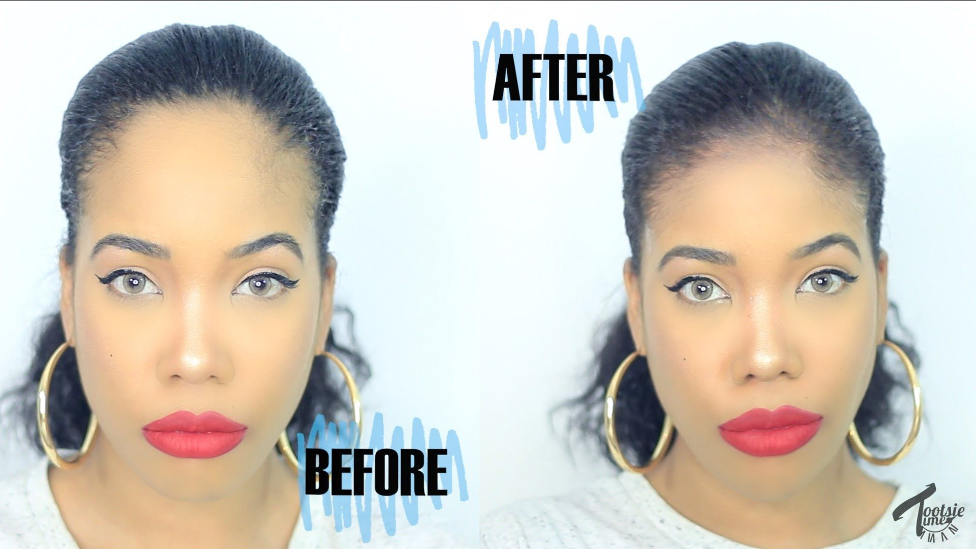How to 5 easy ways to make your forehead look smaller