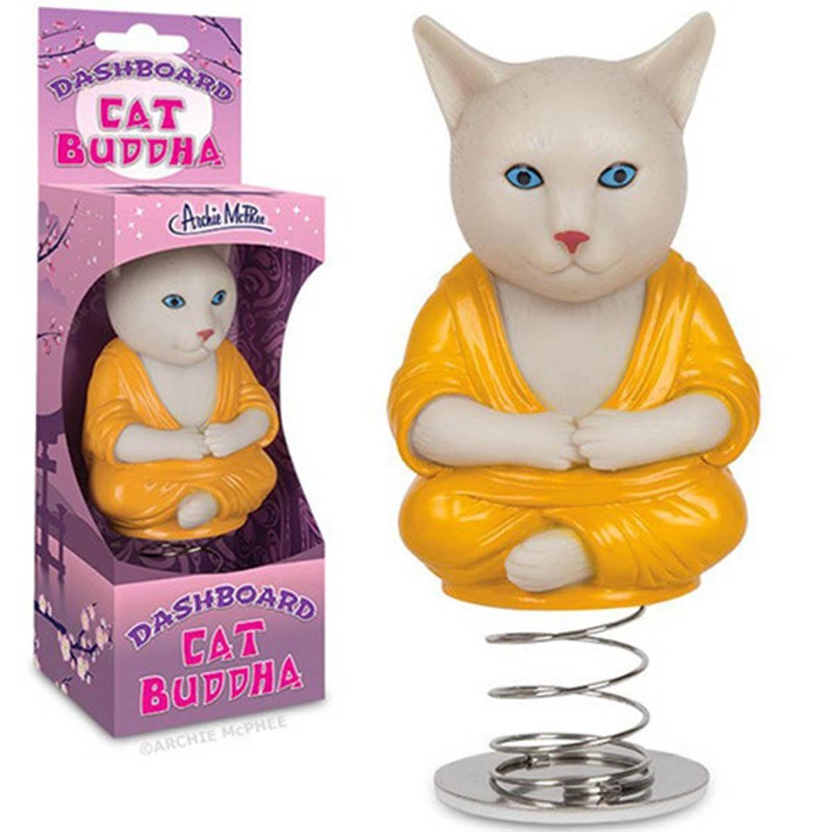 Dashboard Cat Buddha Bobble Figure - Radar Toys