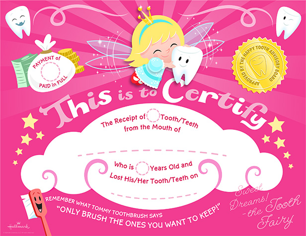 Special delivery from the tooth fairy printable tooth for Hallmark fairy door