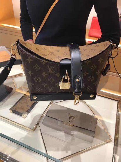 6b0ee32b583 Louis Vuitton Monogram Reverse Bento Box Bag M43517  bento  louis  vuitton   monogram  m43517