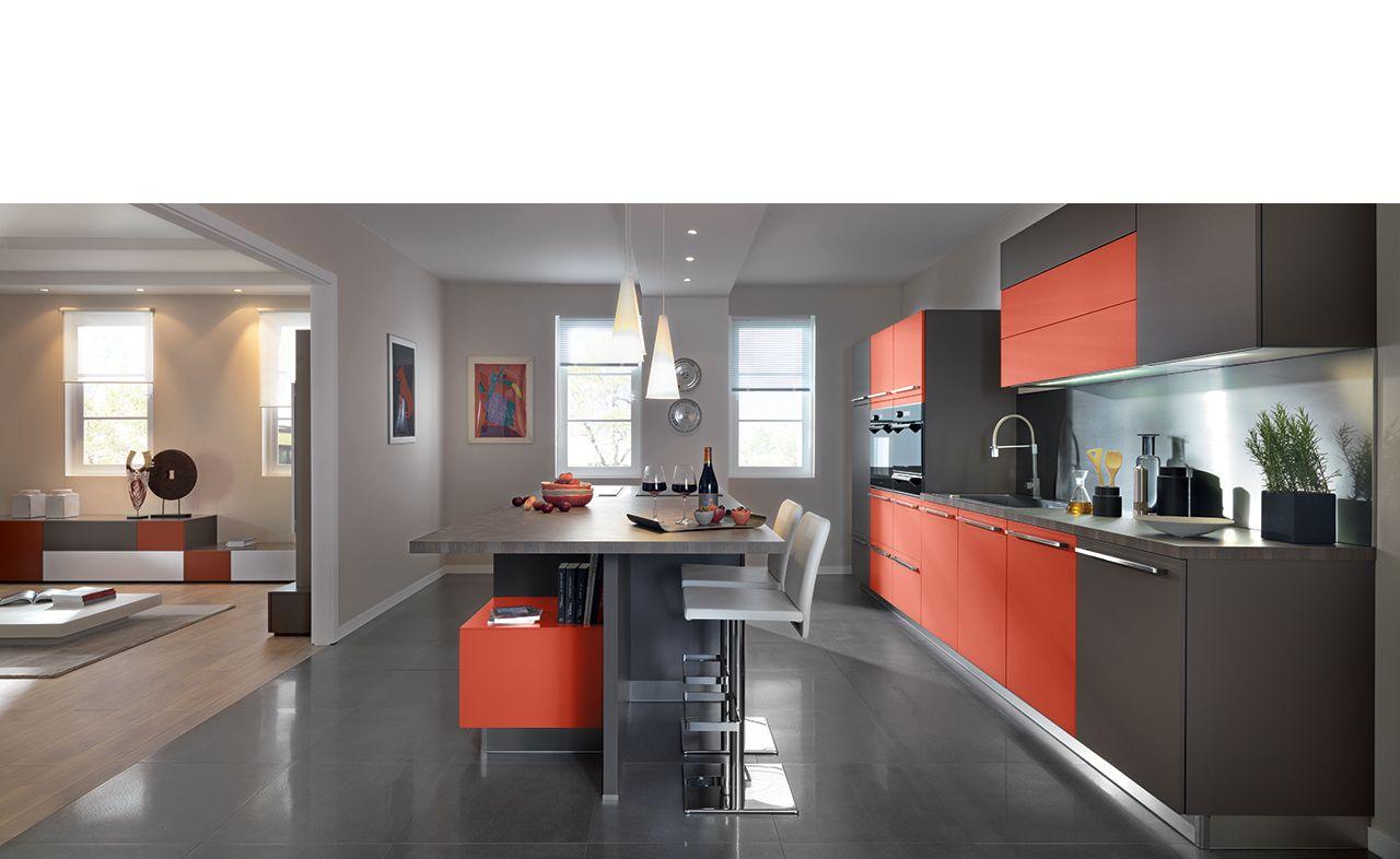 Schmidt cuisine design laque mat loft 2 cuisine for Cuisine moderne loft