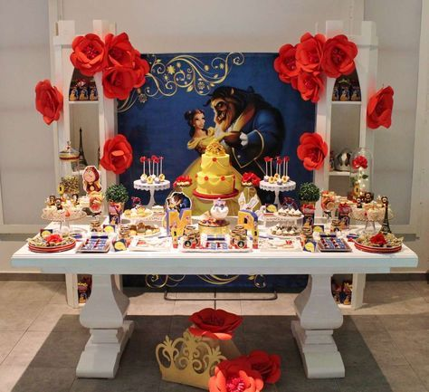 Belle Beauty And The Beast Birthday Party Ideas Beckys 야수