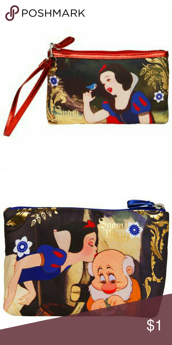 ISO SNOW WHITE WRISTLET & MAKEUP BAG!!!! Been looking for these ...