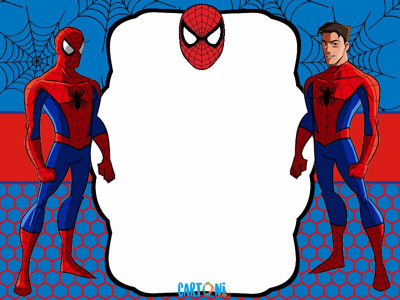 Cartoni Animati Crea Il Tuo Invito O Biglietto Di Auguri Di Spiderman Personalizzato Con Inviti Di Compleanno Inviti Per Festa Festa Di Compleanno Supereroe