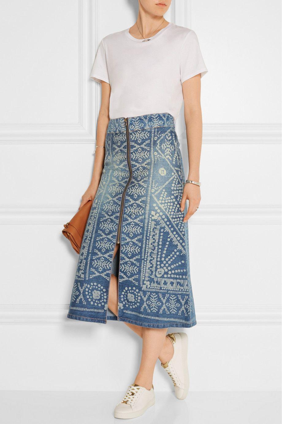 5192f31bef Midi Denim Skirt Pinterest