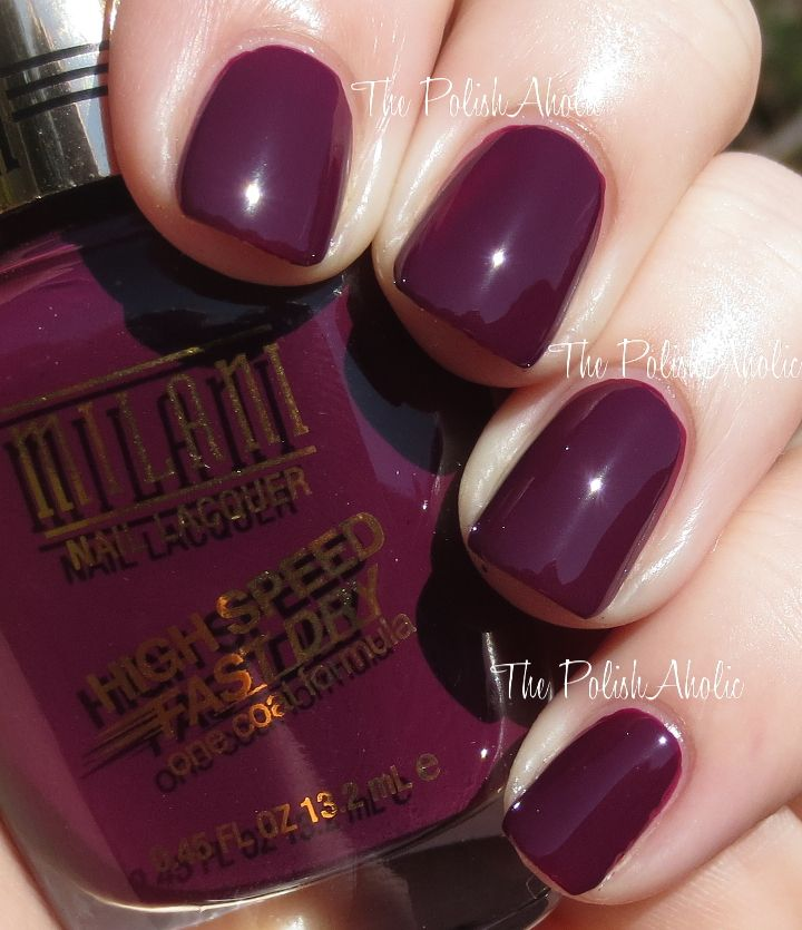 Milani High Speed Fast Dry Polishes for Spring 2014 - Sangria Rush ...