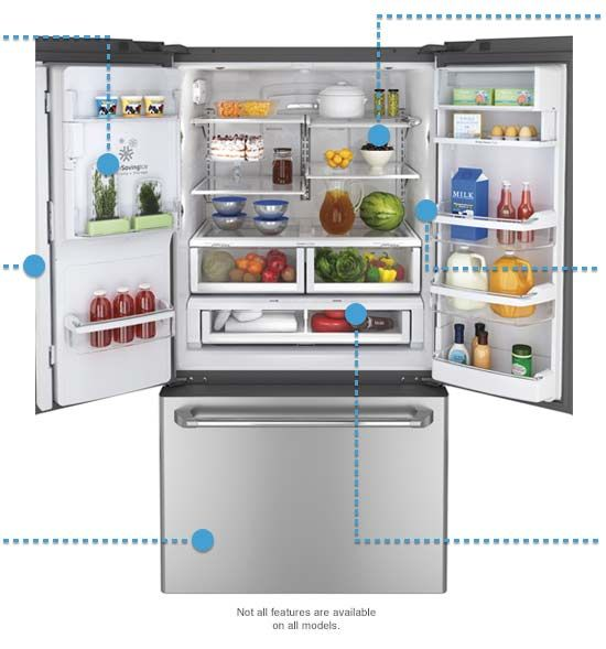 French Door Refrigerators Stylish and Modern  sc 1 st  Pinterest & This fridge just rocks our world! \
