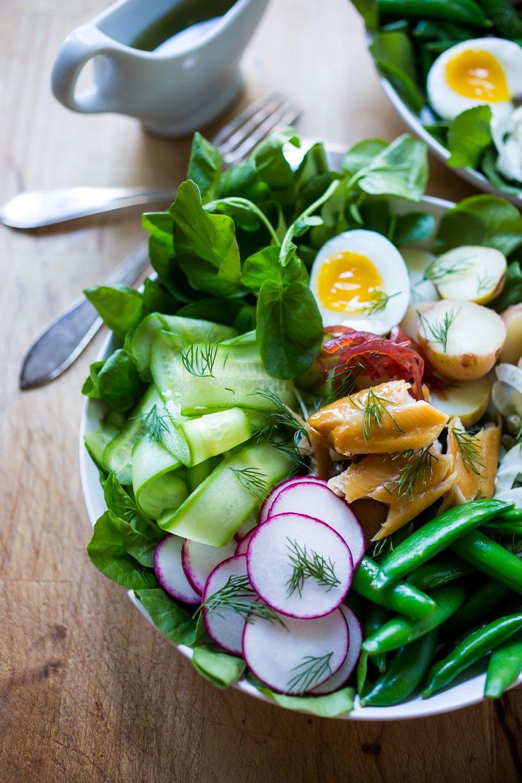 Nordic Nicoise Salad W Watercress Smoked Salmon Dill Recipe Nicoise Salad Seafood Recipes Healthy Fish