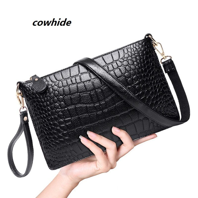 acd8c0f2394 2016 women clutch shoulder crossbody Genuine leather purses evening bags  lady cowhide small envelope women messengers  bag pouch - HandBagList