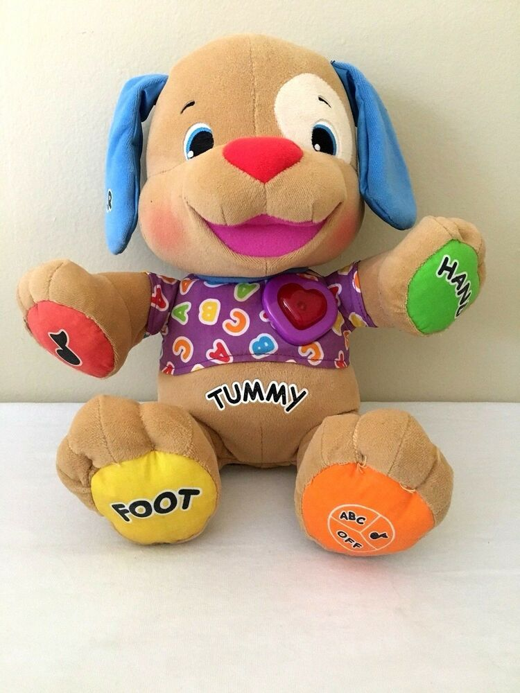 Fisher Price Tummy Talking Dog Interactive Educational Learning