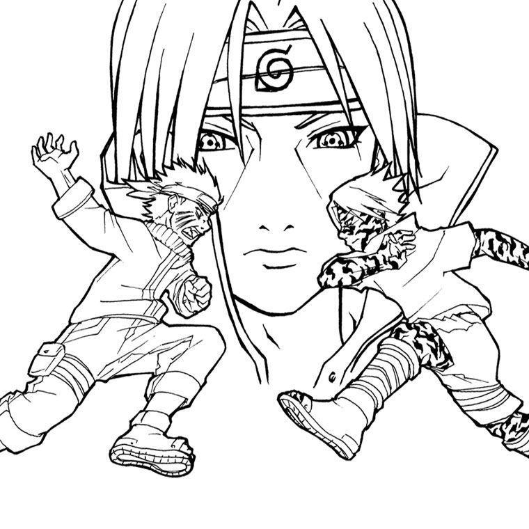 sasuke vs itachi coloring page