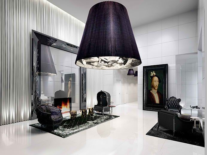 gramercy yoo by philippe starck philippe starck interiors and black interior design. Black Bedroom Furniture Sets. Home Design Ideas