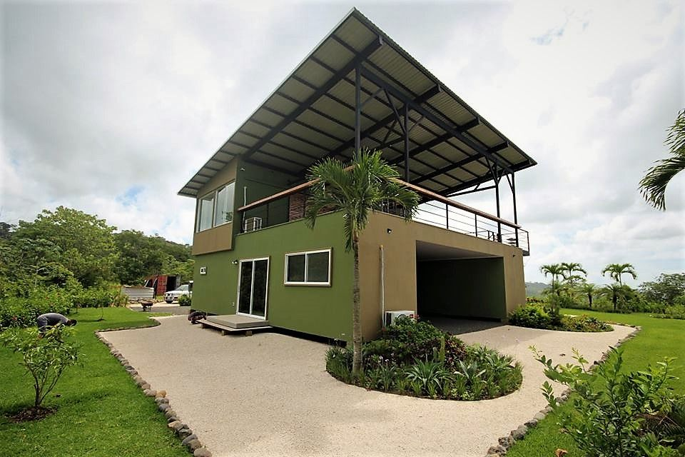 Ocean View Shipping Container Home Build Completed Costa Rica Container Homes In Playa Hermosa Homes For Sale On Large Lots Just Minutes From Jaco Center Container House Shipping Container