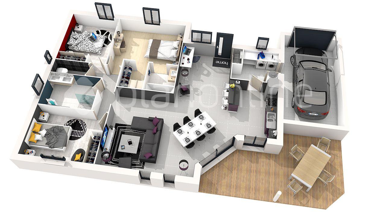 Plan Maison En 3d Plan Maison Plan Maison Moderne Plan Maison 3d