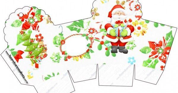 Santa in Green: Free Printable Boxes.
