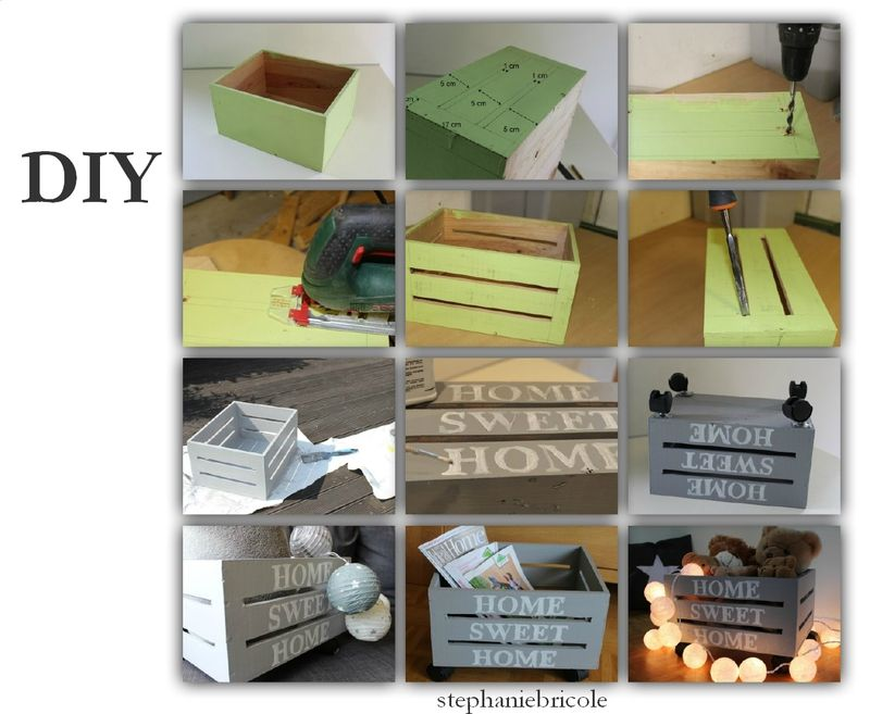 diy transformer une caisse de vin en bois en une caisse ajour e au style vintage caisses en. Black Bedroom Furniture Sets. Home Design Ideas
