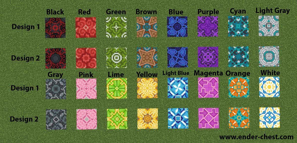 Image Result For Glazed Terracotta Minecraft Pattern Change