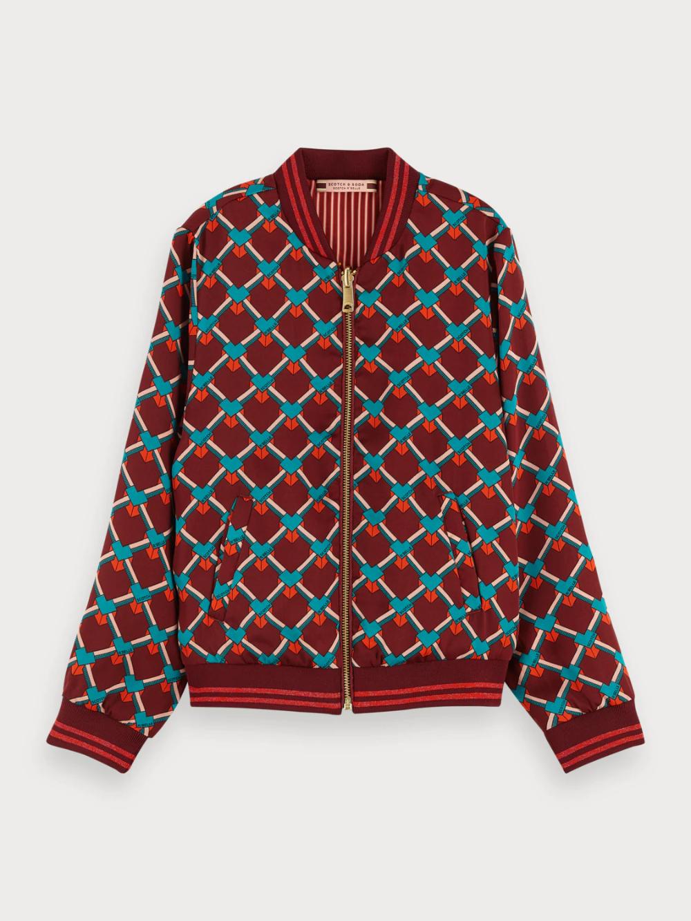 Scotch /& Soda Girls Boxy Fit Garment Dye Sweat Shirt with Placed Artworks Sweatshirt