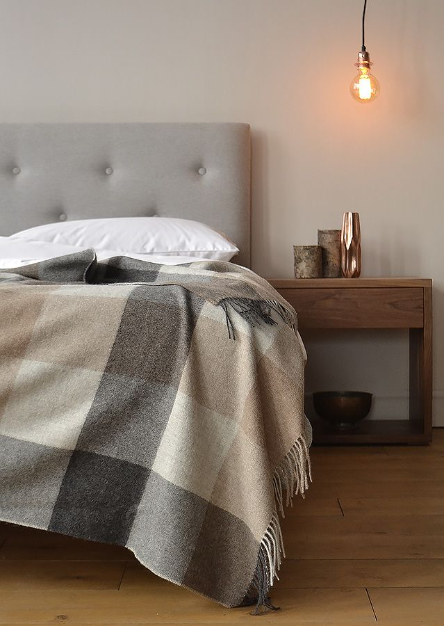 The Arran Bed From Natural Bed Company With Cosy Alpaca Throw