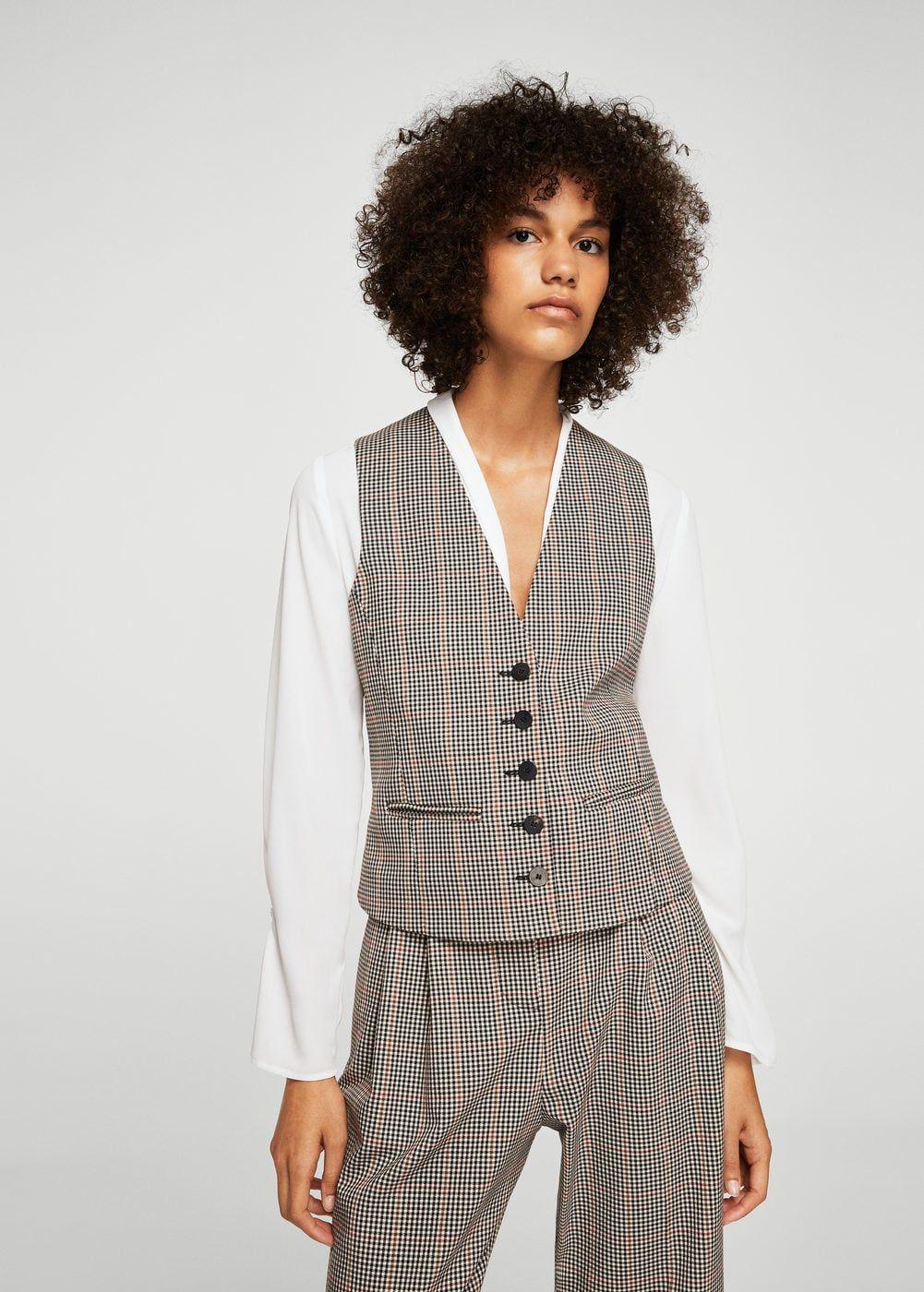 Chaleco traje cuadros - Chaquetas de Mujer  2714b4cb1ffd