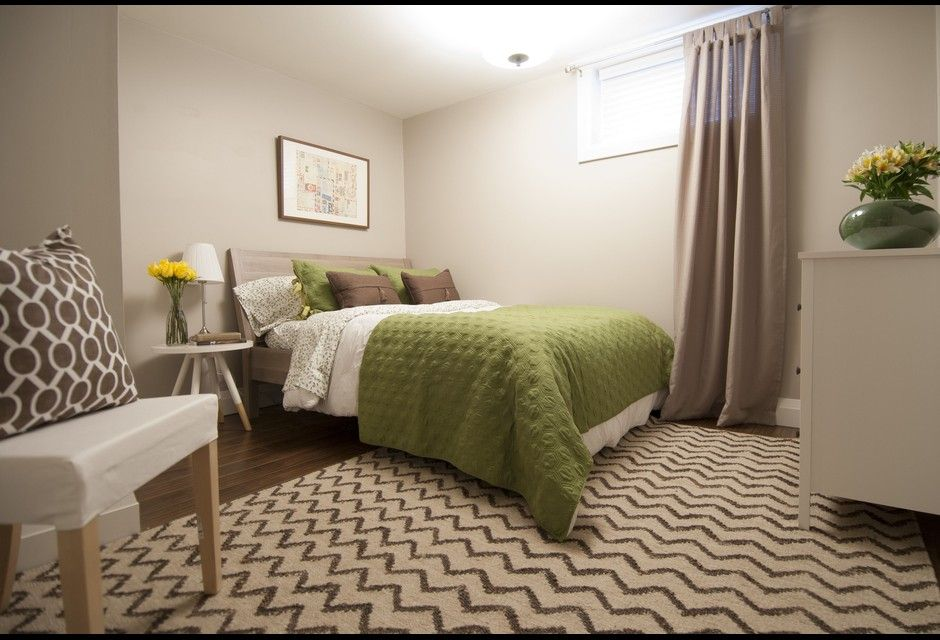 Cozy second basement bedroom income property hgtv for Basement bedroom ideas no windows