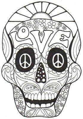Dia De Los Muertos Coloring Pages Dia de los Muertos COLORING