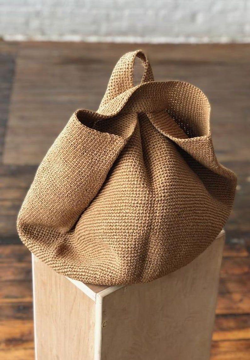 Paper Crochet Bag Papiertasche Gehäkelt Paper Bag