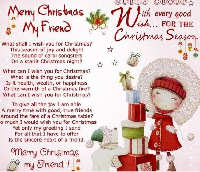 Merry Christmas Poems To My Wife 2018 From Husband Free