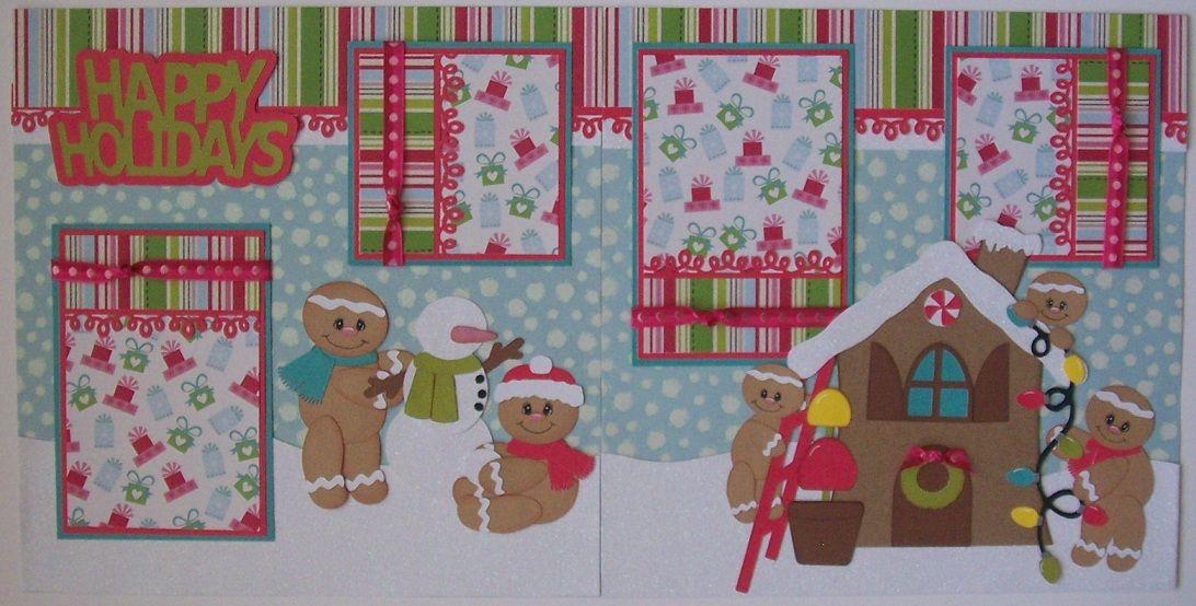 gigerbread scrapbooking  layouts | BLJ Graves Studio: Holiday Gingerbread Scrapbook Page