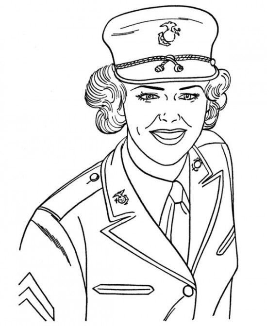 Coloring Pages Of Marines