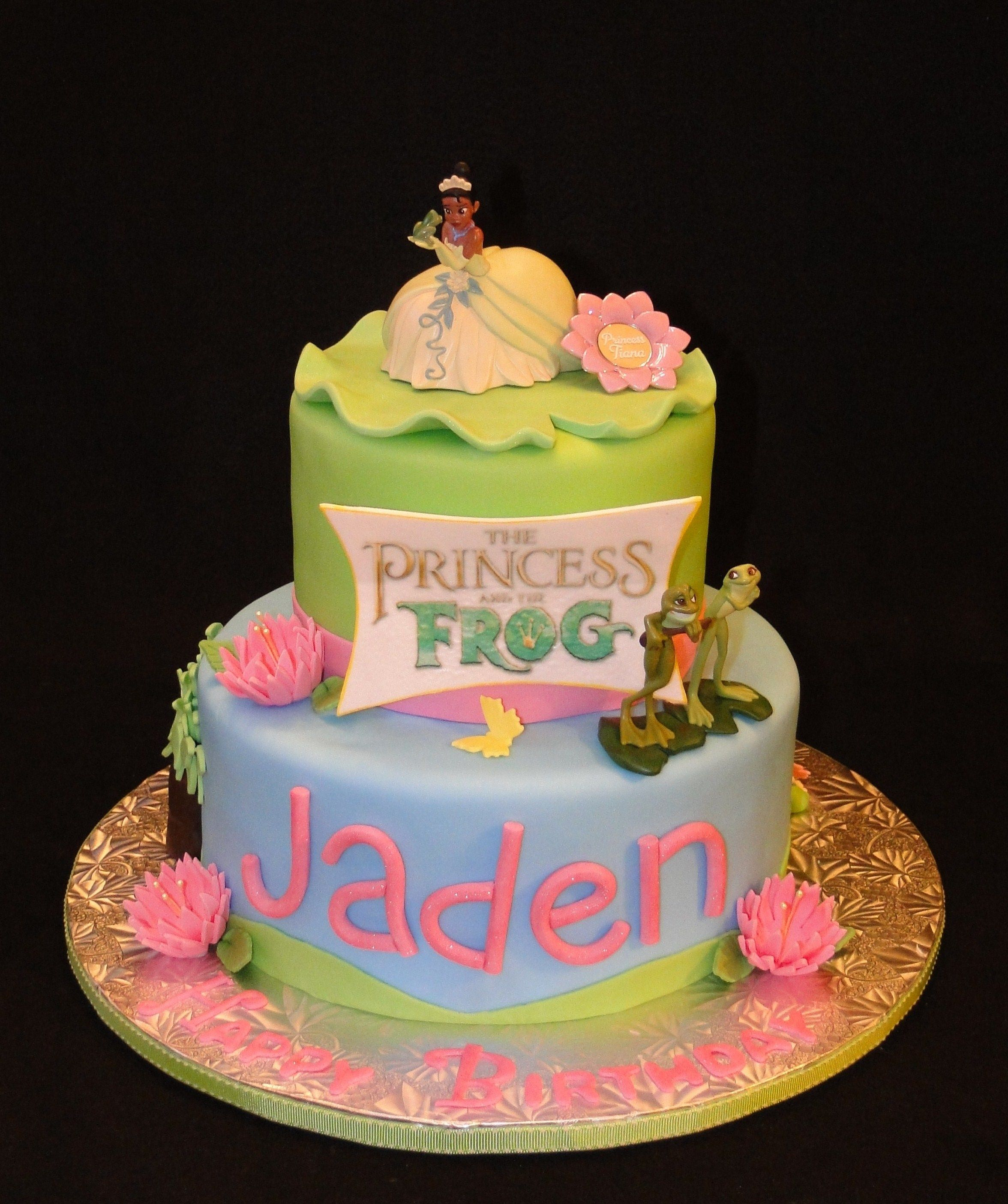 princess and the frog cake decorations