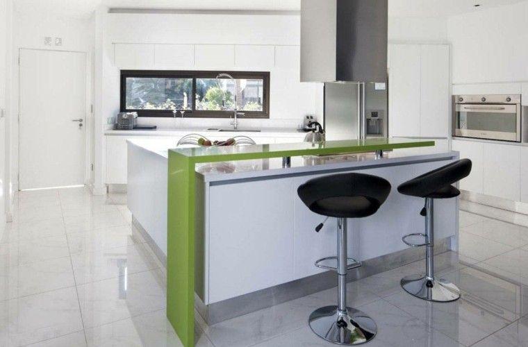 barra de cocina con encimera verde MODERN KITCHENS Pinterest - barras de cocina