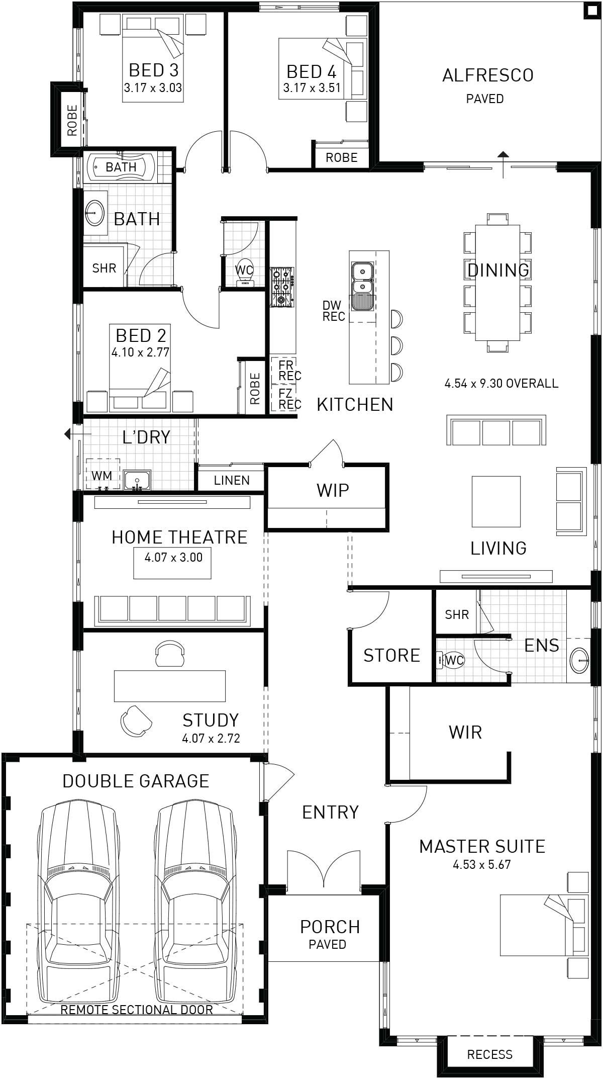 Riviera, Single Storey Home Design Foundtion Floor Plan, WA