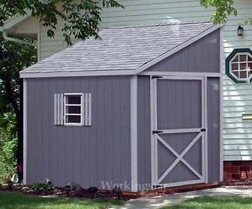 6 X 10 Slant Lean To Style Shed Plans Building