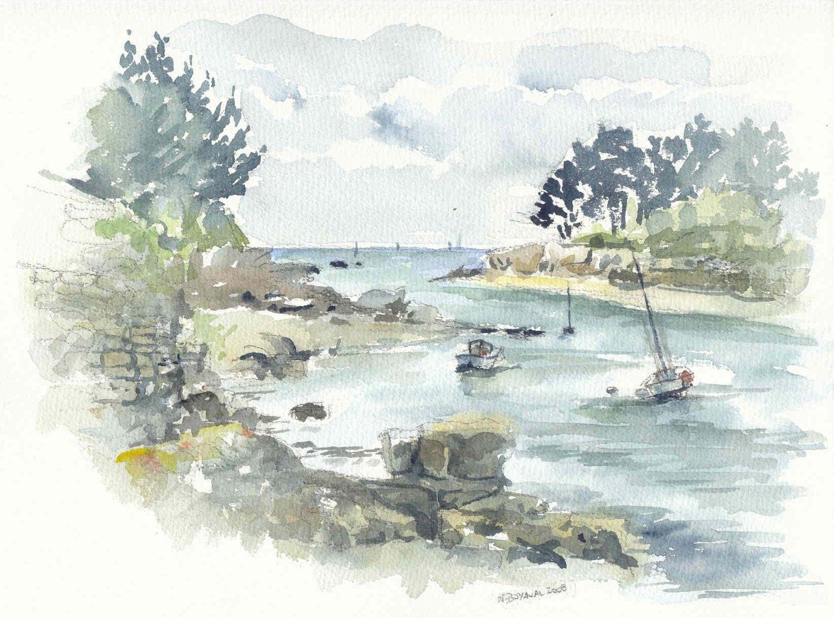 Bords De Mer Comment Peindre Aquarelle Et Peinture