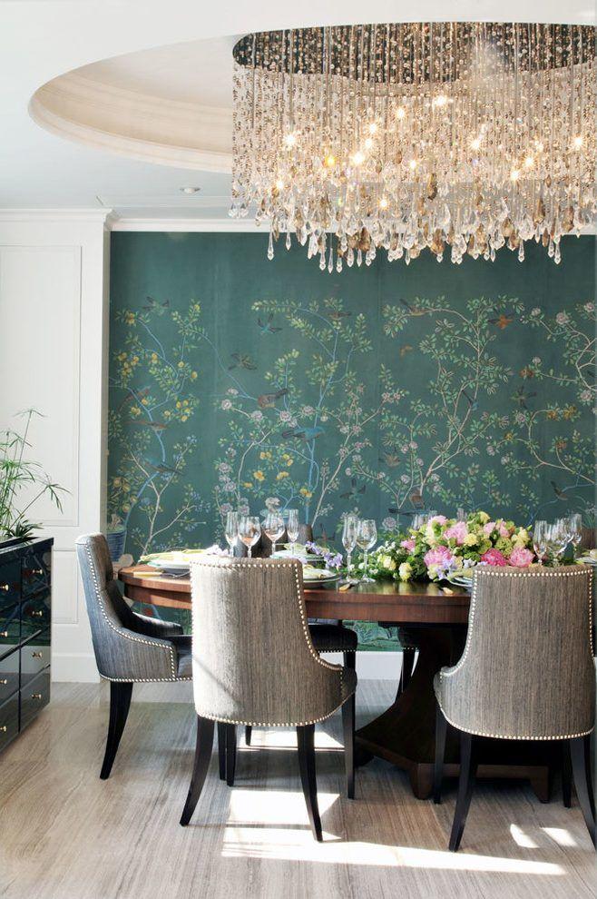 20 Beautiful Paintable Wallpaper Ideas Dining room